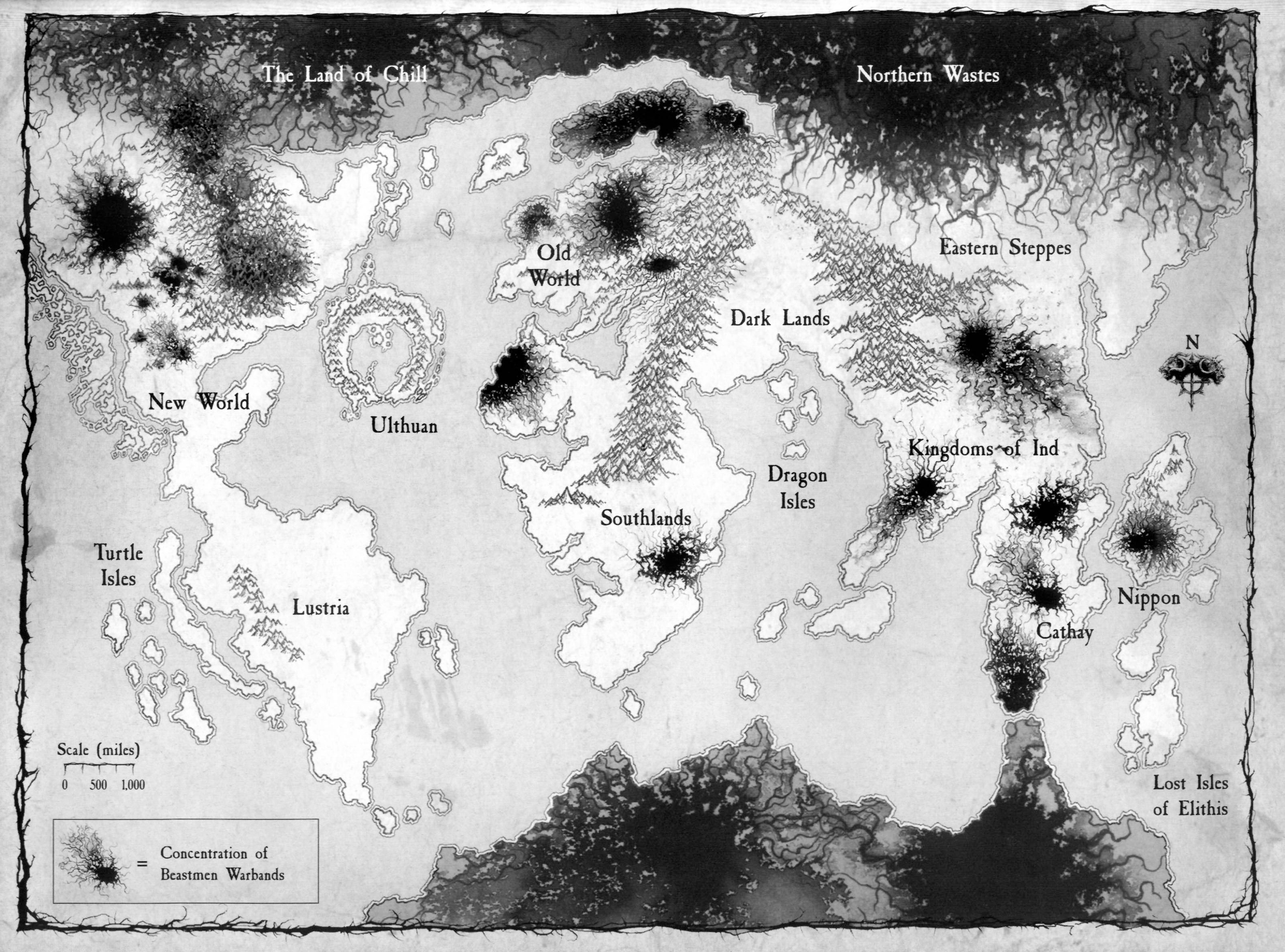 Concentration Of Beastmen In The Warhammer World Totalwar